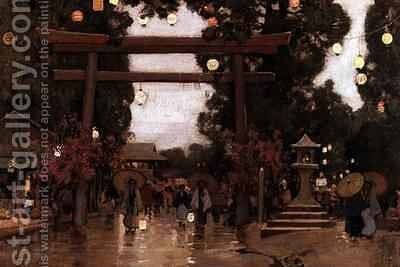 Spring in Japan by Sir Alfred East - Reproduction Oil Painting
