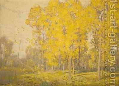 Landscape with Trees  Autumn by Sir Alfred East - Reproduction Oil Painting