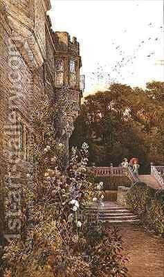 On the Terrace Haddon Hall by Charles Earle - Reproduction Oil Painting