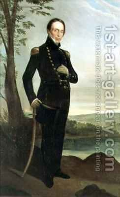 Portrait of Captain John Piper 1773-1851 by Augustus Earle - Reproduction Oil Painting