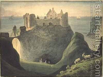 Dunluce Castle county of Antrim Ireland by Augustus Earle - Reproduction Oil Painting