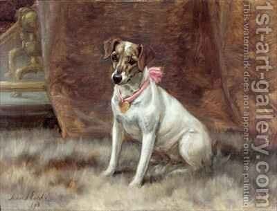 The Pink Bow by Maud Earl - Reproduction Oil Painting