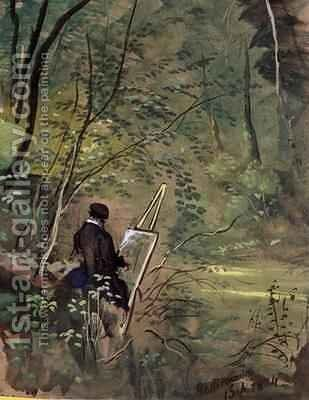 Hestercombe Woods by The Rev. John Eagles - Reproduction Oil Painting