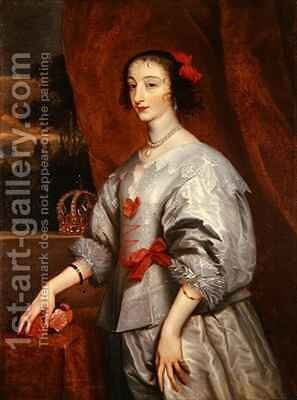 Queen Henrietta Maria 3 by (after) Dyck, Sir Anthony van - Reproduction Oil Painting