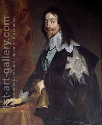 King Charles I 1600-49 by (after) Dyck, Sir Anthony van - Reproduction Oil Painting