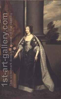 Henrietta Maria 2 by (after) Dyck, Sir Anthony van - Reproduction Oil Painting