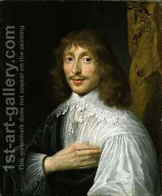 Portrait of George Villiers 1st Duke of Buckingham 1592-1628 by (after) Dyck, Sir Anthony van - Reproduction Oil Painting
