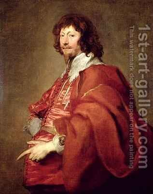 Portrait of Endymion Porter Diplomat and Royalist by (after) Dyck, Sir Anthony van - Reproduction Oil Painting