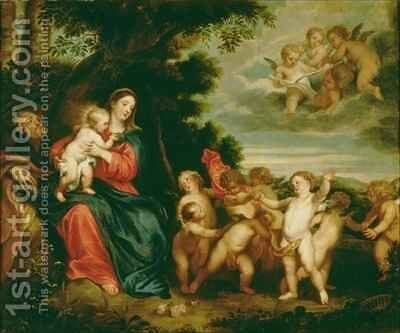 Rest on the Flight into Egypt by (after) Dyck, Sir Anthony van - Reproduction Oil Painting