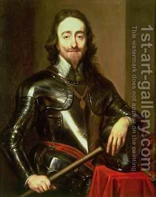 Portrait of King Charles I 1600-49 2 by (after) Dyck, Sir Anthony van - Reproduction Oil Painting
