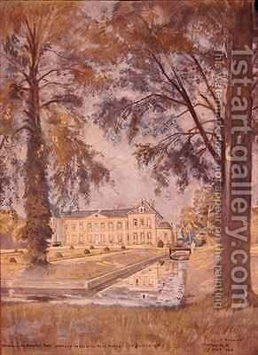 Chateau de Bombon near Melun France by Charles Jules Duvent - Reproduction Oil Painting