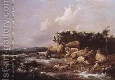 The Lambing Season by J. Duvall - Reproduction Oil Painting