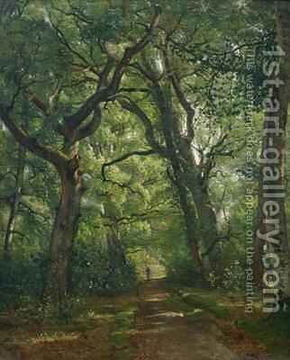 Path in the Forest by Henri Joseph Constant Dutilleux - Reproduction Oil Painting