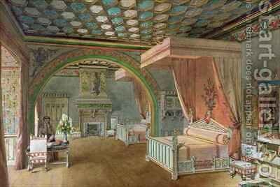 The Pink Room in the Chateau de Roquetaillade by Edmond Duthoit - Reproduction Oil Painting
