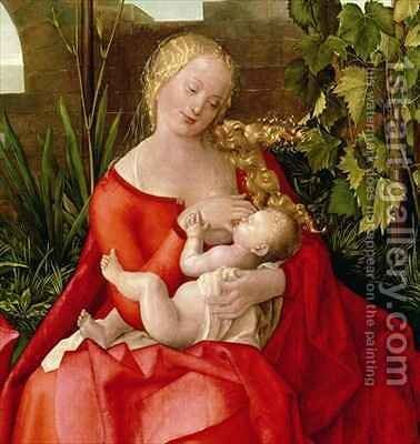 Virgin and Child Madonna with the Iris by (after) Durer or Duerer, Albrecht - Reproduction Oil Painting