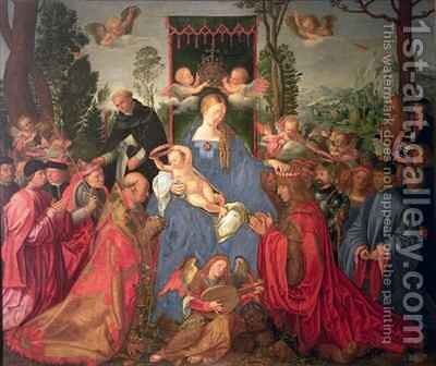 Garland of Roses Altarpiece by (after) Durer or Duerer, Albrecht - Reproduction Oil Painting