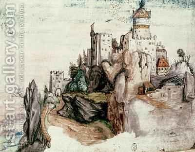 Fortified Castle by (after) Durer or Duerer, Albrecht - Reproduction Oil Painting