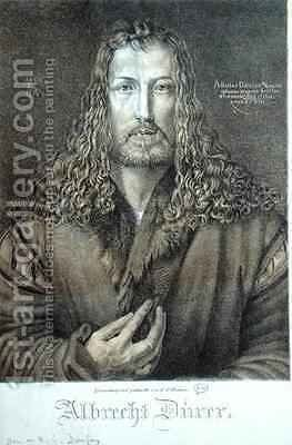 Self Portrait aged 28 by (after) Durer or Duerer, Albrecht - Reproduction Oil Painting