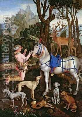 St Hubert by (after) Durer or Duerer, Albrecht - Reproduction Oil Painting