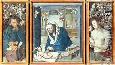 The Dresden Altarpiece by (after) Durer or Duerer, Albrecht - Reproduction Oil Painting