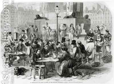 The Restaurant of wet feet at the Marche des Innocents in Paris by Godefroy Durand - Reproduction Oil Painting