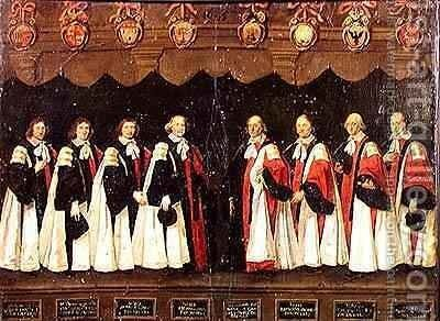 The Aldermen of 1644-45 by Antoine Durand - Reproduction Oil Painting
