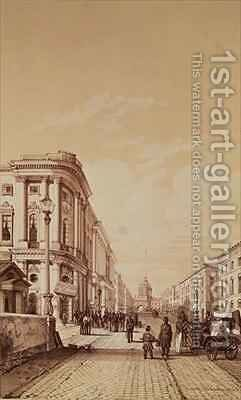 Nevsky Prospekt St Petersburg by Andre Durand - Reproduction Oil Painting