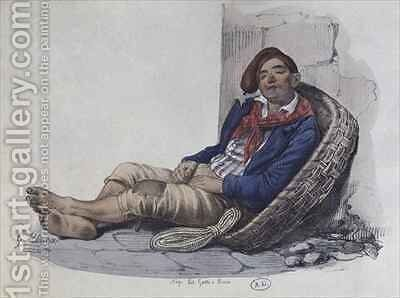 A porter of Naples by (after) Dura, Gaetano - Reproduction Oil Painting