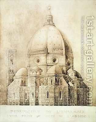 Florence Cathedral from the East from Fragments dArchitecture du Moyen Age et de la Renaissance by (after) Duquesne, Eugene - Reproduction Oil Painting