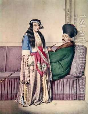 An Armenian Prince and His Wife by (after) Dupre, Louis - Reproduction Oil Painting