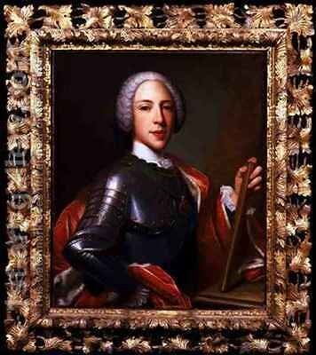 Portrait of Prince Henry Benedict Cardinal York 1725-1807 by Domenico Dupra - Reproduction Oil Painting