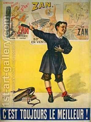 Poster advertising Zan Liquorice by Bensa Dupont - Reproduction Oil Painting