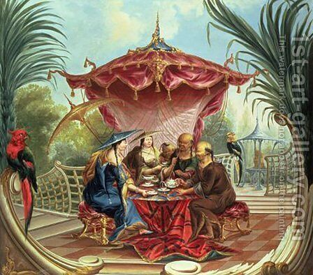 Chinese Tea by Jacques Vigoureux Duplessis - Reproduction Oil Painting
