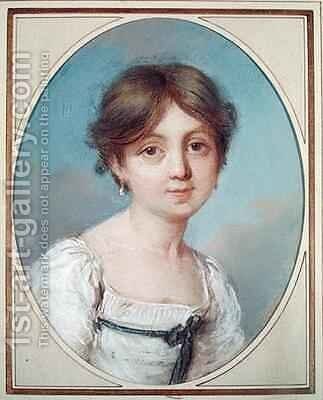 Amandine Aurore Lucile Dupin 1804-76 as a Child by Aurore (nee Saxe) Dupin de Francueil - Reproduction Oil Painting