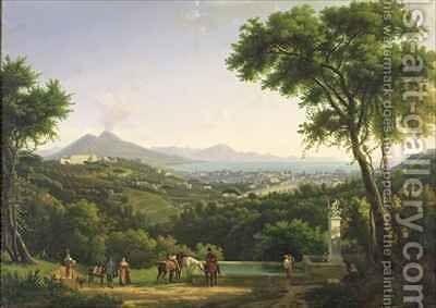 View of Naples from Capodimonte by Alexandre-Hyacinthe Dunouy - Reproduction Oil Painting