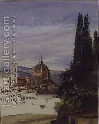 Florence from Boboli Gardens by Ada Dundas - Reproduction Oil Painting