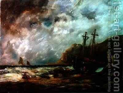 Coastal Scene by Edward Duncan - Reproduction Oil Painting