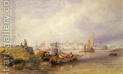 Greenwich Hospital on the Thames by Edward Duncan - Reproduction Oil Painting