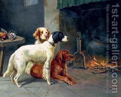 By the Fire by Alfred Duke - Reproduction Oil Painting