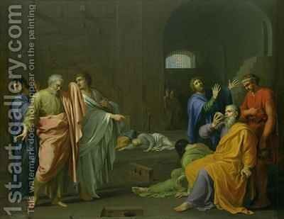 The Death of Socrates by Charles Alphonse Dufresnoy - Reproduction Oil Painting