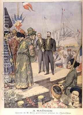 Arrival in Saigon of Paul Beau 1857-1927 Governor General of Indo China 1902-07 by Charles Georges Dufresne - Reproduction Oil Painting