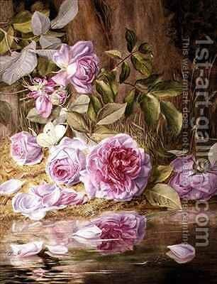 Blairie Roses by Mary Elizabeth Duffield - Reproduction Oil Painting