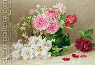 Roses and Lilies by Mary Elizabeth Duffield - Reproduction Oil Painting