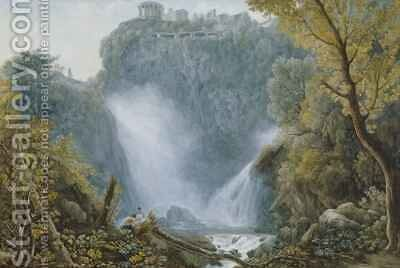 Falls of Tivoli by Abraham Louis Rudolph Ducros - Reproduction Oil Painting