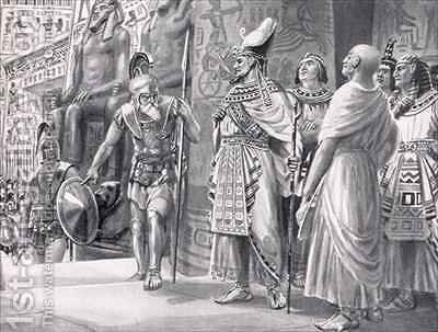 Agesilaus II in Egypt by Ambrose Dudley - Reproduction Oil Painting