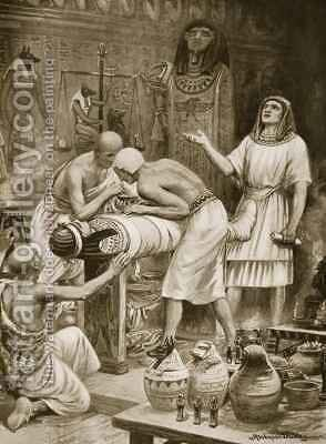 Embalming the Dead by Ambrose Dudley - Reproduction Oil Painting