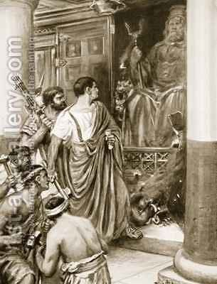Oriental Supersititions in Rome by Ambrose Dudley - Reproduction Oil Painting