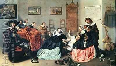 Scene Galante by Jacob Duck - Reproduction Oil Painting