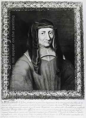 Portrait of Louise de Marillac 1591-1660 2 by Gaspard Duchange - Reproduction Oil Painting
