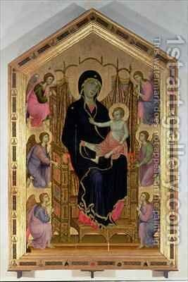 Madonna and Child Rucellai Madonna by Buoninsegna Duccio di - Reproduction Oil Painting